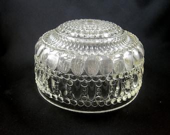 Vintage Clear Glass Light Fixture