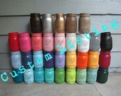 Painted and Distressed Ball Mason Jars--Flower Vases, Rustic Wedding, Centerpieces