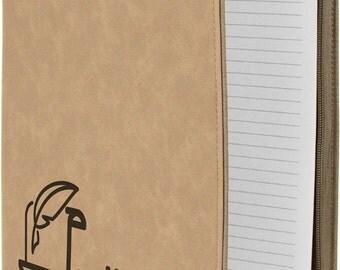 Leather Portfolio with zipper