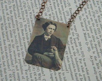 Lewis Carroll necklace Alice in Wonderland Literature  jewelry Through the Looking Glass