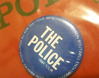 The Police 'Ghost in the Machine' Vintage Tour Button 1981-1982 - Official Merchandise