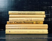 Yellow Vintage Books, Book Collection, Book Bundle, Photography Props, Shades of Yellow Books ,Instant library