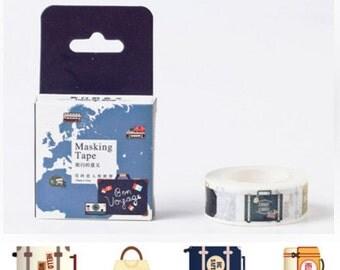 DIY Removable Adhesive Masking Deco Washi Tape - Travelling