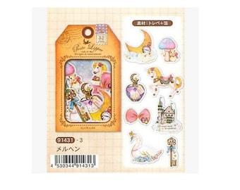 Diary Scrapbook Sticker Label Pack Japan Q-LiA Fairy Tale