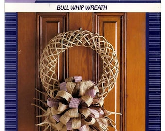 Creative Twist Bullwhip Wreath Paper Craft Pattern Leaflet 30