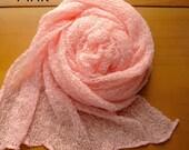 Light Pink Newborn Stretch Wraps For Photographers
