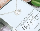 Bridesmaid Gifts, Thank you card, Maid of honor gift, Be my maid of honor, thank you gifts for brides, personalized jewelry