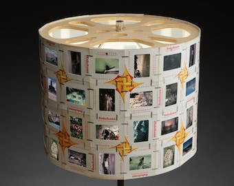 Photography Slide Lampshade, Movie Reel, Retro Home Decor, Upcycled, Repurposed Kodak Film, Unique Hand Crafted, Designer Lamp Shade, Art