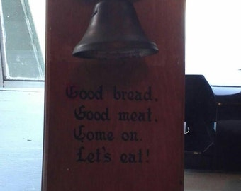 Wooden Wall Dinner Bell Holder