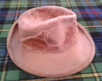 WOMEN'S HAT, Tailoring Hat, Vintage '70, Wool Hat, Fedora style