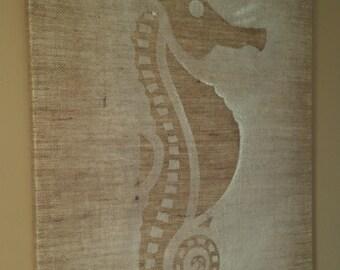 Seahorse on Burlap