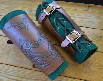 Celtic Leather Bracers - Horse Lord - Arm Guards, Medieval, Renaissance, Artisan Handcrafted