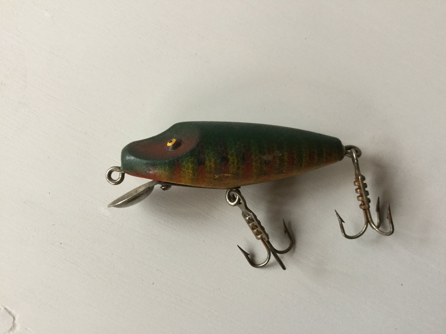 Vintage antique wood fishing lure for Collectible fishing lures