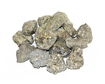 Pyrite Untumbled stones - 1 lb., Bulk pyrite, Fools gold, Iron pyrite, Crystal healing, Jewelry making, Chakra stones, Raw pyrite