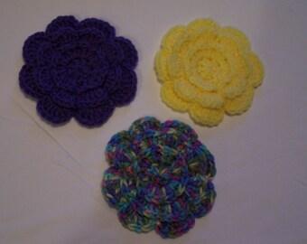 Appliques, Flower Appliques, Supplies, Embellishments, Applique Flowers, Crochet Appliques