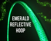 "Emerald Reflective HDPE or Polypro 5/8"" 3/4"" Dance & Exercise Hula Hoop - NOT an LED hoop green"