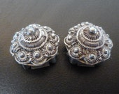 Solid Silver Indian clip earrings Ethnic Jewlery Vintage or Antique Hand Made