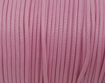 5 YARDS - 2MM Pink Woven Braided Waxed Nylon Cording Trim #45