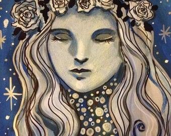 Winter Lady Original Painting