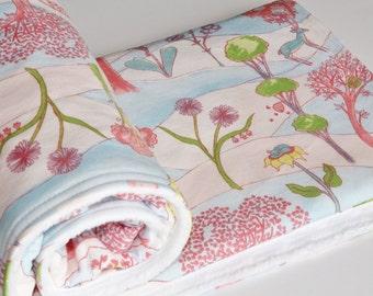 Baby Blanket, Gender Neutral Baby Blanket, Minky Back Baby Blanket, Baby\Toddler Blanket