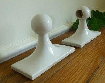 Porcelain White Glossy Ceramic Towel Rod Holders,  Round Towel Rack Holders, Tile In Bathroom Fixtures
