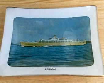 1960s Souvenir Oriana Pin Coin Dish Orient Steam Navigation Company