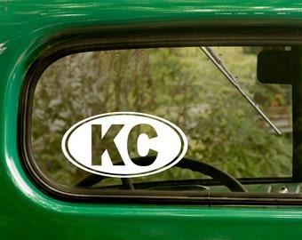 Kansas City Sticker Decal, oval KC Decal, Car Decal, Sticker Decal, Laptop Sticker, Oval Sticker, Bumper, Vinyl Decal, Car Sticker