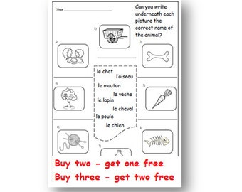 Common Worksheets » French Exercises For Kids - Preschool and ...