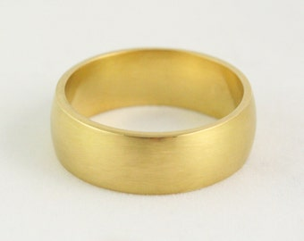 8mm Heavy Wedding Ring - Wide Cigar Band - Mens Womens Unisex - 14k 18k 22k - 4 - 8.25