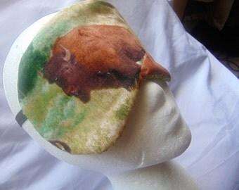 "Man's handmade sleep mask, ""American Bison""/ sleep aid/ eye health/ insomnia aid/ bath and body/ nocturnal sleep aid/ peaceful sleep/ artsy"