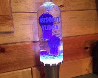 Custom Lava Lamp Light Absolut Vodka 750 ML or 1 liter