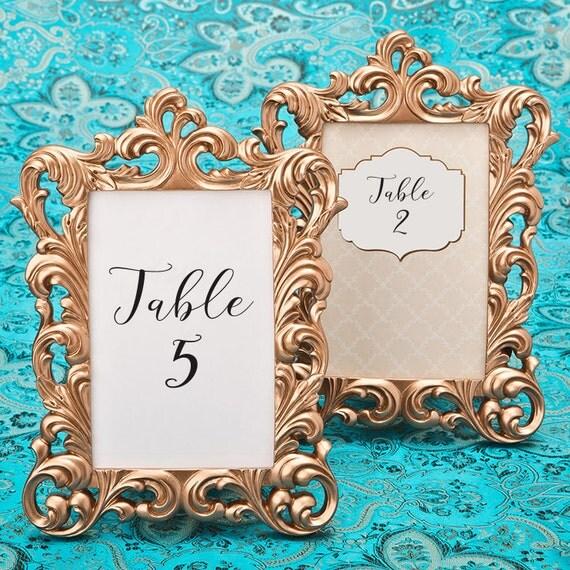 rose gold picture frames 30 set size 4 x 6 baroque table. Black Bedroom Furniture Sets. Home Design Ideas
