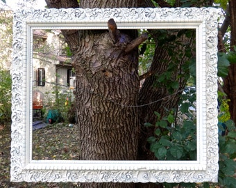 Large Frame, Gesso Frame, Vintage Frame, White Frame, Big Frame, Shabby, Wedding, Photo Booth Prop, French Country, Chippy Frame, CasaKarma