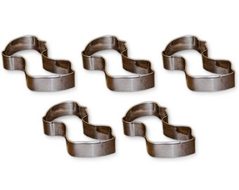 Set of 5 Jane Austen Silhouette Cookie Cutter: Perfect for Baking, Tea Parties, Sandwiches and More