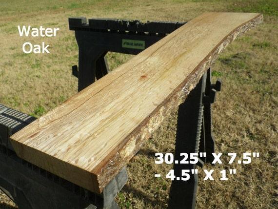 Live edge water oak wood slab finished diy by hurricanemilling for Finished wood slabs