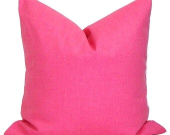 SOLID PINK PILLOW.24x24 inch. Pink Pillow Cover.Pink Throw Pillow. Pink Euro Pillow. Euro Sham. Euro Pillow Cover. Pillow Sham. Cushion Sham