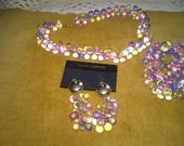 Lower Price Vintage ChunkyBeaded Pastel Jewelery Set