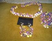 Lower Price Vintage ChunkyBeaded Pastel Jewelery Set
