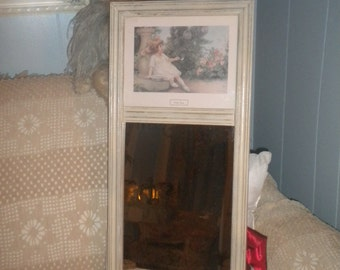 Beautiful Re do On A Vintage Mirror, Little Girl, Garden Games, Shabby Chic