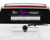 Be You Nique - Younique Presenter - Direct Sales Advertising Decal
