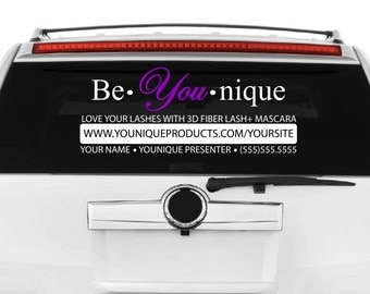 Be You Nique / Younique Decal / Direct Sales Decal / Younique Presenter / Marketing / Advertising Decal / Window Decal / Personalized Decal