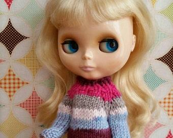Blythe Sweater - Chunky 100% Wool striped sweater