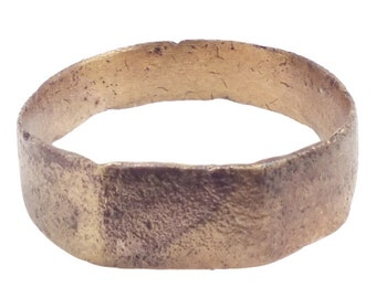 Medieval Mans Wedding Ring C.13th-15th Century Size 9 3/4  (19.7mm)[PWR830]