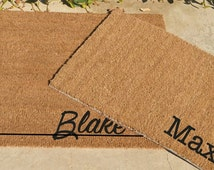 PERSONALIZED PET Feeding Mat ... Typewriter  or Honey Script Cursive Font ...  One Name ...2 SIZES