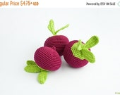 Crochet Beet - kid toy, baby rattle, play food, waldorf, kitchen decoration, eco-friendly toy, FrejaToys