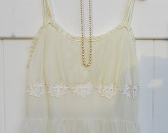 Vintage Gotham Gold Stripe Nightgown