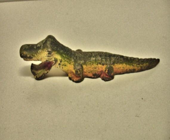 Vintage cast iron alligator bottle opener 6 1 2 by - Alligator bottle opener ...