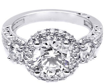 GIA Certified Round Brilliant Diamond Engagement Ring VVS 2.25ctw 18k White Gold