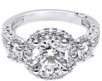 GIA Certified Round Brilliant Diamond Engagement Ring VVS 2.25ctw 18k White Gold