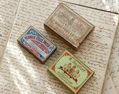 Vintage French pen nib boxes, antique boxes, calligraphy, vintage pen nibs, decorative boxes, instant collection, steel pen nibs